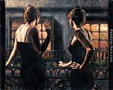 Fabian Perez Cenisientas of the Night II painting