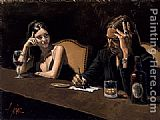 Fabian Perez Fabian and Monica painting
