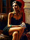 Fabian Perez Red on Red IV painting