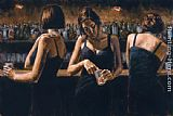Fabian Perez Study For 3 Girls in Bar II painting