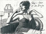 Fabian Perez Study For Saba At Las Brujas painting