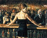 Fabian Perez THE BARTENDER painting