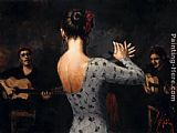 Fabian Perez Tablado Flamenco V painting