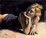 Fabian Perez second blonde painting