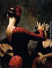 Fabian Perez tablao flamenco painting