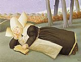 Fernando Botero Reclined Nun painting