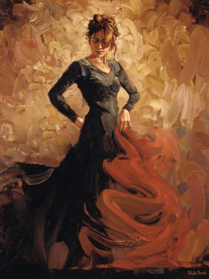 flamenco dancer flamenco ii painting best paintings for sale. Black Bedroom Furniture Sets. Home Design Ideas