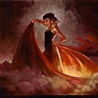 Flamenco Dancer Crescendo II painting