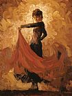 Flamenco Dancer Flamenco I painting