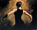 Flamenco Dancer Flamenco III painting