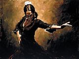 Flamenco Dancer Gitana painting