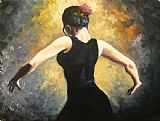 Flamenco Dancer flamenco dancer 4 painting