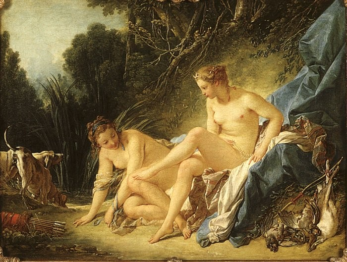 Francois Boucher Diana Resting after her Bath