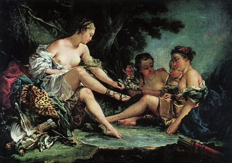 Francois Boucher Diana's Return from the Hunt
