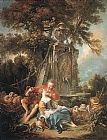 Francois Boucher An Autumn Pastoral painting