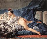 Francois Boucher Brown Odalisque painting