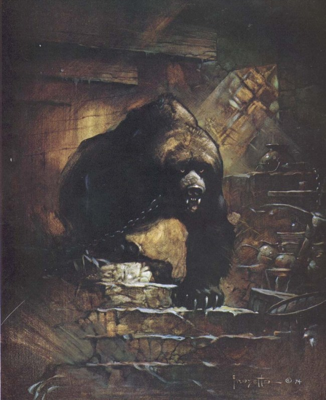 Frank Frazetta Grizzly Bear