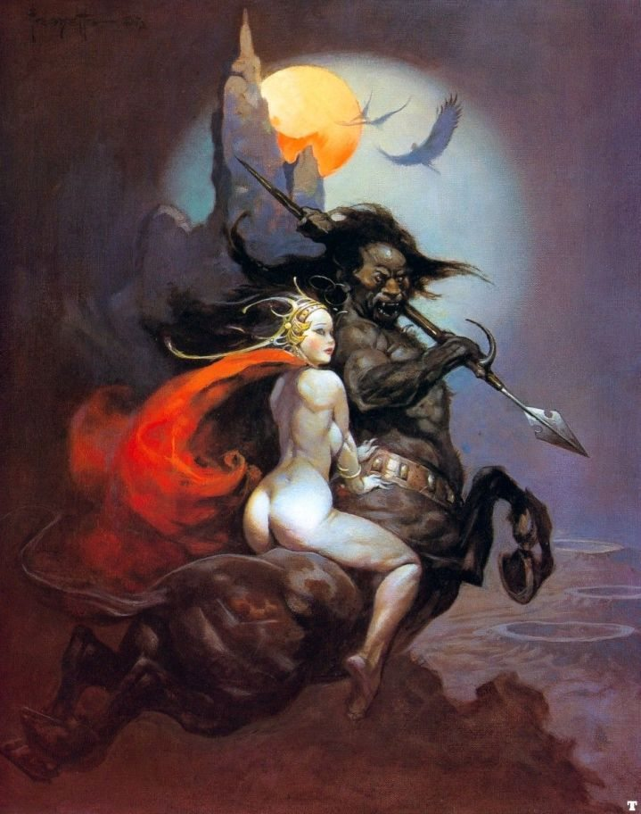 Frank Frazetta The Moon Maid and the Centaur