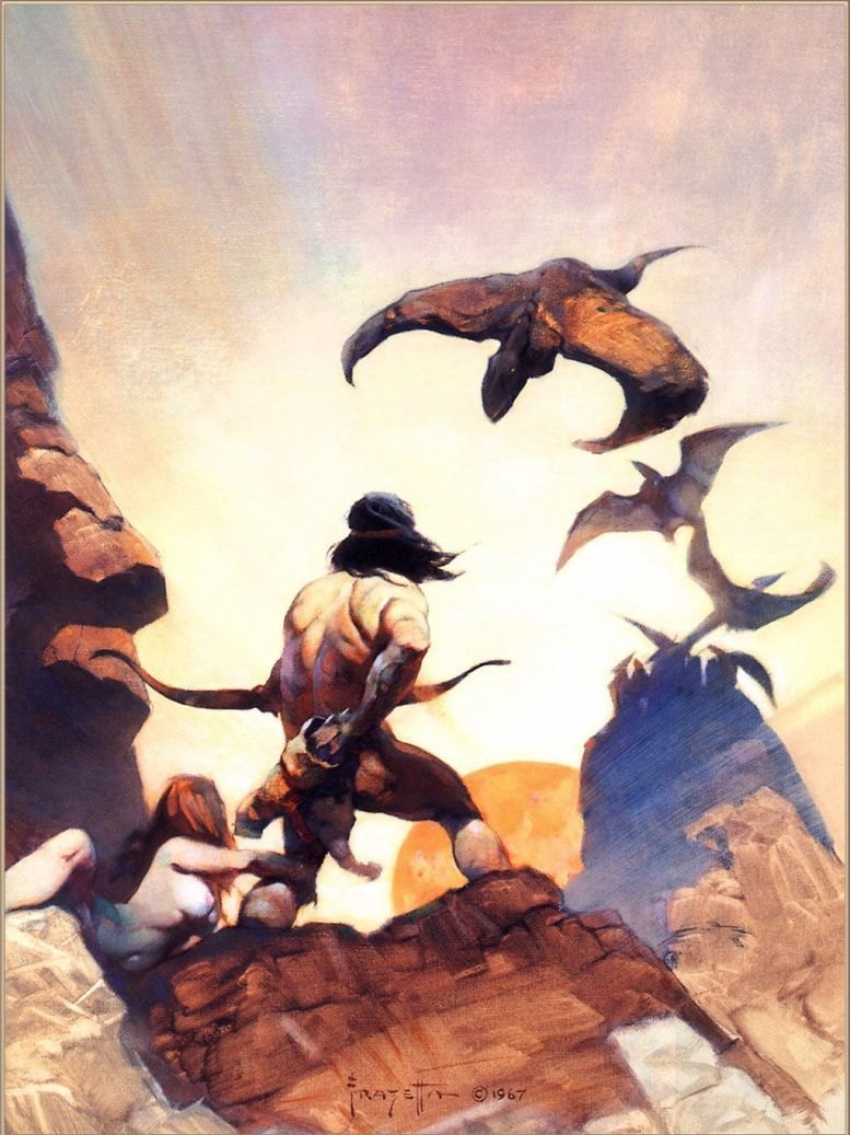 Frank Frazetta The Return of Jongor
