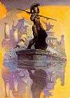 Frank Frazetta Atlantis Rising painting