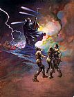 Frank Frazetta Darkness at Time's Edge painting