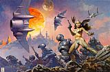 Frank Frazetta Dawn Attack painting