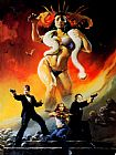 Frank Frazetta From Dusk til Dawn painting