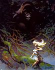 Frank Frazetta King Kong painting