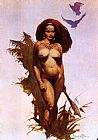 Frank Frazetta Primitive Beauty painting