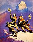 Frank Frazetta Snow painting