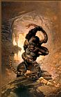 Frank Frazetta The Eighth Wonder painting