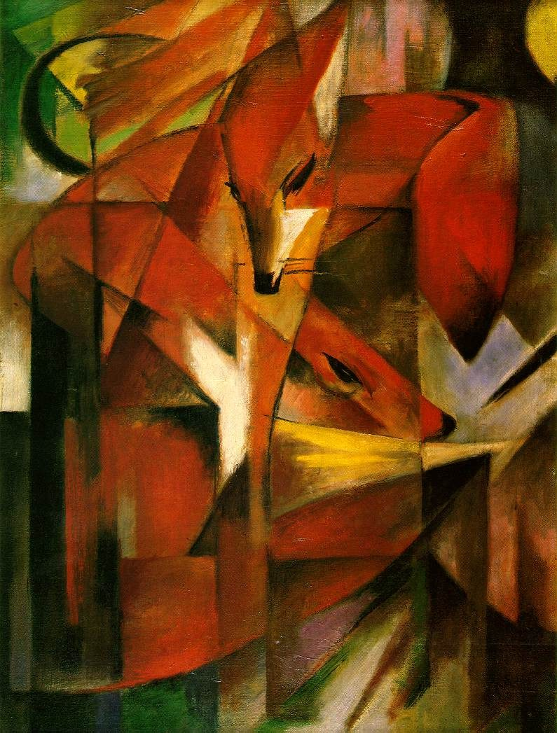 Franz marc foxes painting best paintings for sale for Prints of famous paintings for sale