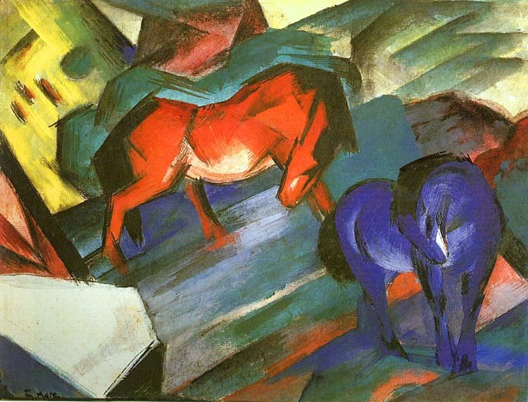 Franz Marc Red and Blue Horse