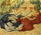 Franz Marc Cats on a Red Cloth painting