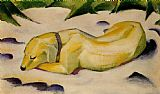 Franz Marc Dog Lying in the Snow painting