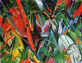 Franz Marc In The Rain painting