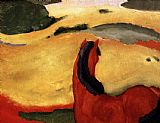 Franz Marc Pferd in Landschaft painting