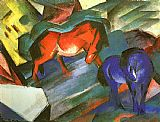 Franz Marc Red and Blue Horse painting