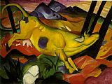 Franz Marc yellow cow painting