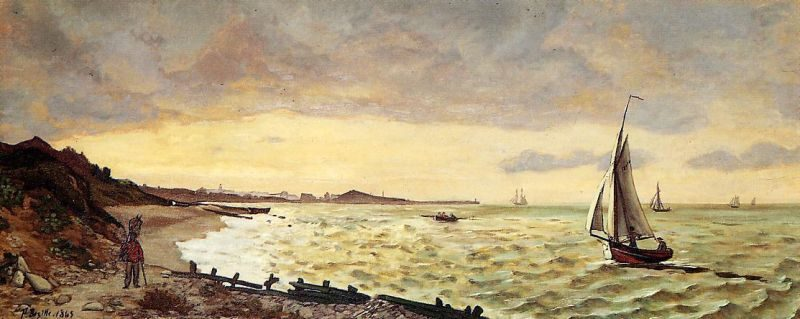 Frederic Bazille Seascape, The Beach at Sainte-Adresse