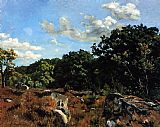 Frederic Bazille Landscape at Chailly painting