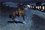 Knight paintings - An Arguement with the Town Marshall by Frederic Remington