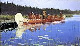 Hunting paintings - Radisson and Groseilliers by Frederic Remington