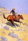 Hunting paintings - The Cowboy by Frederic Remington