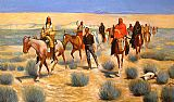 Hunting paintings - The Missing by Frederic Remington