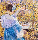 Frederick Carl Frieseke the birdcage painting