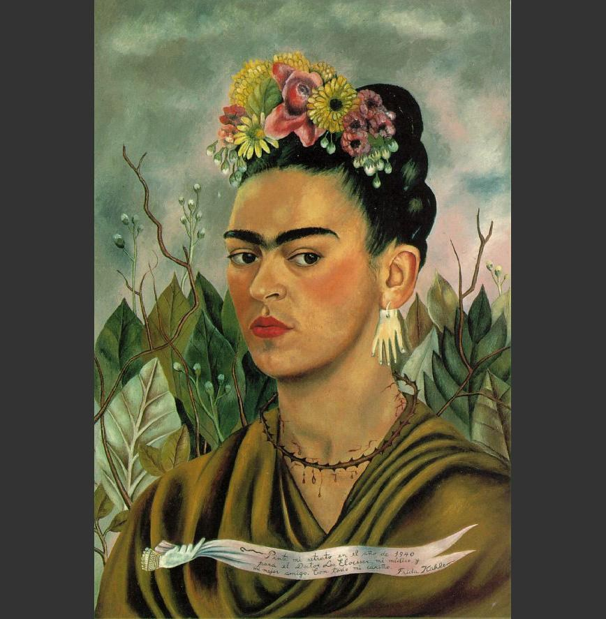 Frida Kahlo Self Portrait with Thorn Necklace