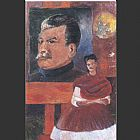 Frida Kahlo Frida and Stalin painting