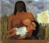 Frida Kahlo My Wet Nurse and I painting