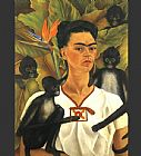 Frida Kahlo Self Portrait with Monkeys painting